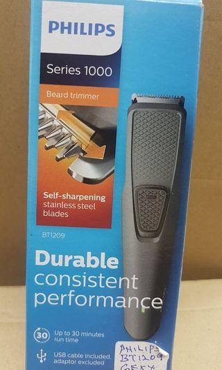 🚚 PHILIPS RECHARGEABLE  BEARD TRIMMER