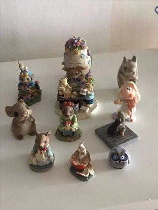 Miniatures clay and Wooden figurines