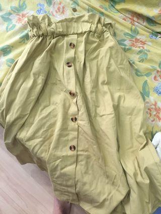 Mustard green skirt