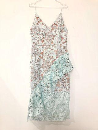 Cooper St Mint Green Lace Dress (Eur 40)