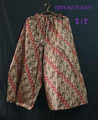 Batik Palazzo Unisex Pants 2 for $28