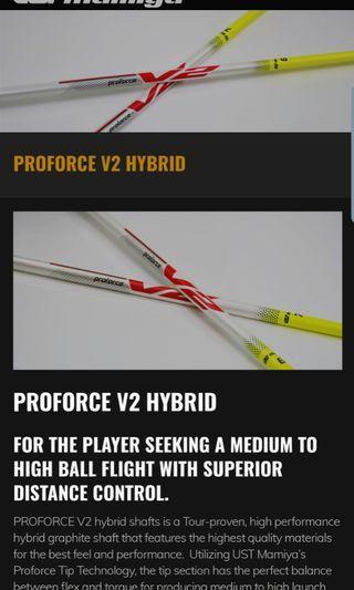 UST Hybrid Shaft, stiff, brand new, uncut