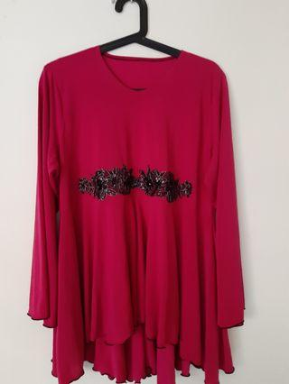 Beet Red Blouse