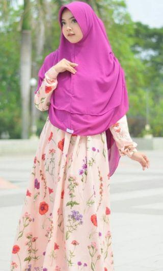 #bapau - Lidzni Flowery Dress (Peach)