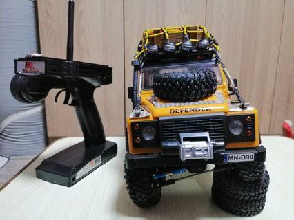 Rc 4x4 truck climbing Rock fully upgrated