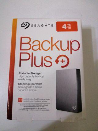 Seagate Backup Plus 4TB (BNIB SEALED w/ warranty)