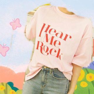二手 Hear Me Rock 🇰🇷 韓製T恤 Mercci22 隻編私服