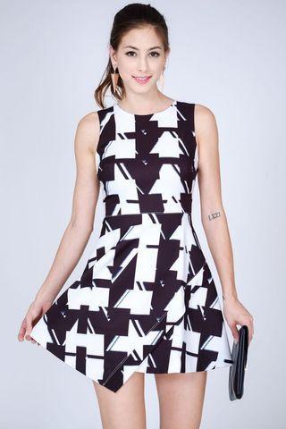 MDS Fatina Dress in Print size XS