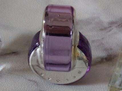 近全新 Bvlgari  寶格麗花舞輕盈女性淡香水(紫水晶) 5ml