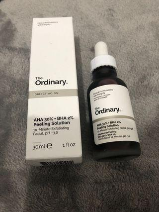 The Ordinary AHA 30% + BAH 2% Peeling Solution