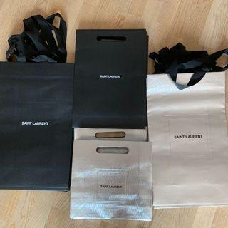 YSL Saint Laurent paper bags