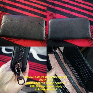 Bonia leather ori long wallet