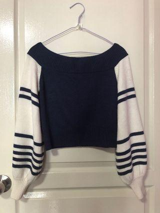 F21 Balloon-Sleeve Off-the-Shoulder Top