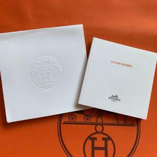 Hermes leather caring booklet