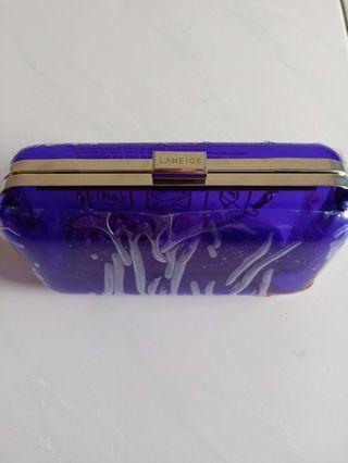 🚚 Brand New Transparent Purple Clutch Case Sling Bag