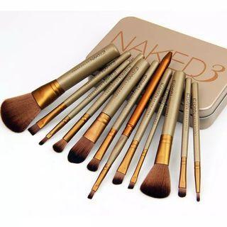 Brush Set Makeup Brushes Set with Metal Boxes NAKED 3