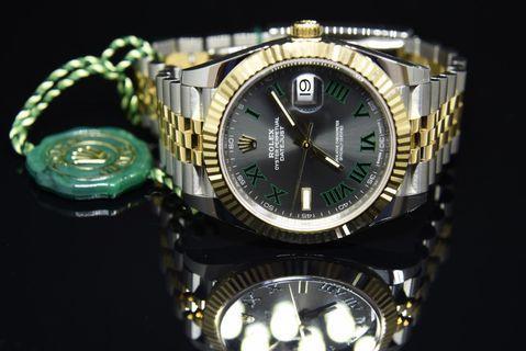 ROLEX 126333 半金綠羅馬