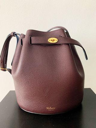 Mulberry Oxblood Bucket Bag- with dustbag!