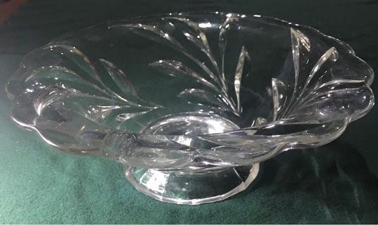 Clear glass food platter
