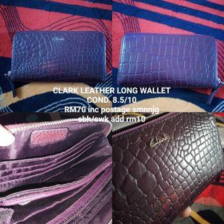 Clark leather long wallet
