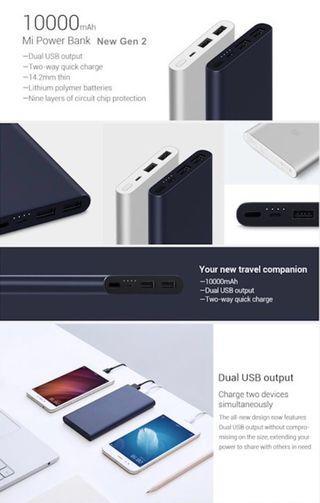 100% Authentic Xiaomi Powerbank 10000