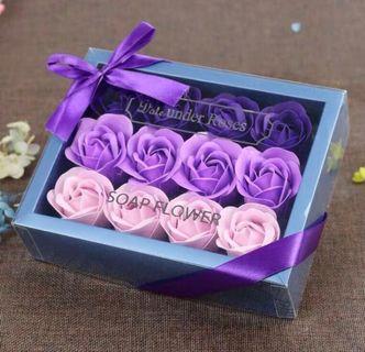 最後一盒🌹2019 法式浪漫香皂花香梘花禮盒 18 朵 漸變色玫瑰 母親節花 求婚婚禮周年紀念 新年賀年情人節生日 元宵佳節禮物 ROMANIC LOVE VALENTINES ANNIVERSARY WEDDING NEW YEAR BIRTHDAY SOAP ROSES FLOWER BOX  GIFT