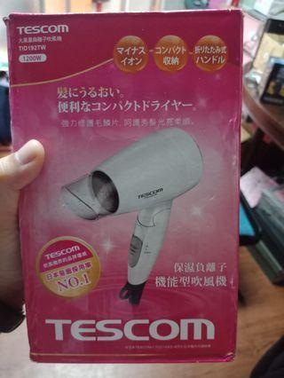 tescom 大風量小型吹風機 日本品牌