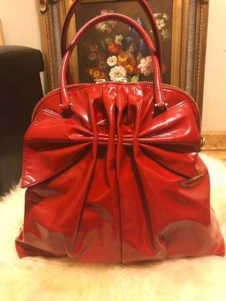 Reduced again!  Authentic Valentino Red patent leather handbag retails $1900