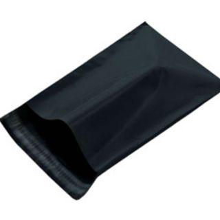Polymailers/Plastic Mailers/Courier Bags - BLACK COLOUR - 25cm x 35cm - 15 pieces - able to fit in A4 size