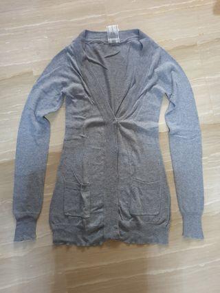 Fox Grey Cardigan Size XP