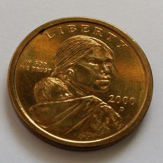 US $1 Currency Coin of Year 2000D