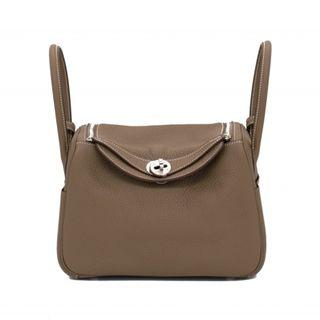 (NEW) HERMES LINDY TAURILLON CLEMENCE 26 SHOULDER BAGS PHW
