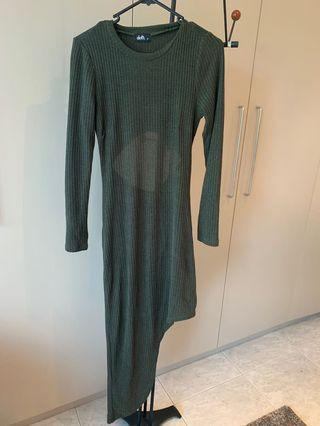 Stunning Olive Green Sweater Dress- size 12