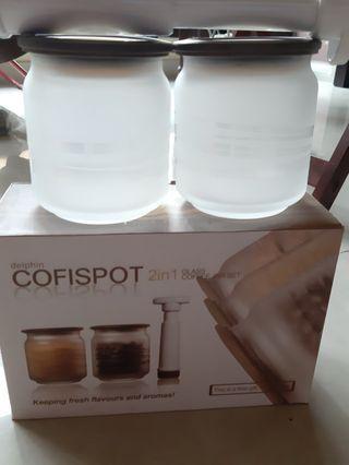 2 in 1 Glass Coffee Jar Set