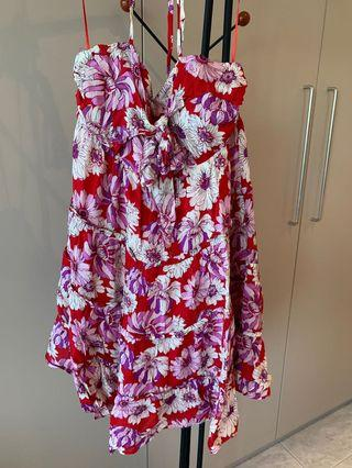 Brand new with tags! Floral and flirty mini dress- size 8