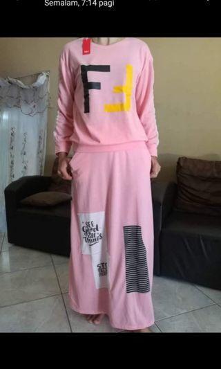 Baju Muslimah free saiz