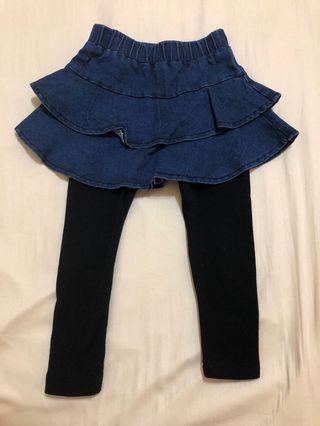 🚚 裙子+褲子  尺寸:7(90-100cm) 二手 9成新