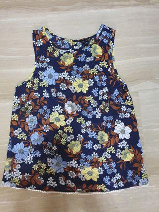 New Look Floral Top Size 8