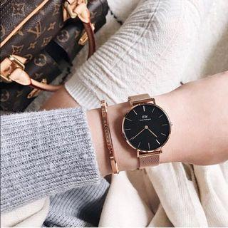 💫#11: daniel wellington 100% authentic watch and cuff set