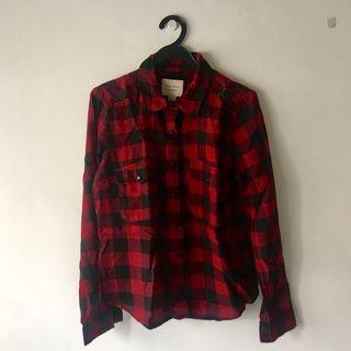 Forever 21 Blink Red Flannel Shirt