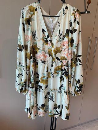 Brand new with tags! Floral long sleeve dress- size 10