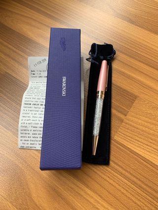 Swarovski Pen in rose gold and pink
