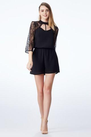 Duchess & Co Flaire Sleeve Playsuit