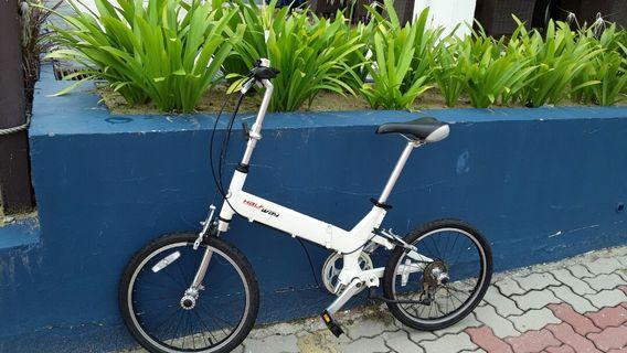 White Giant Foldable Bicycle