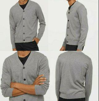 H&M Premium Fine-Knit Soft Cotton V-Neck Cardigan
