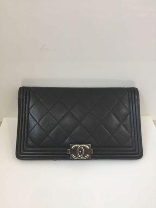 Chanel Boy flap lambskin Long wallet