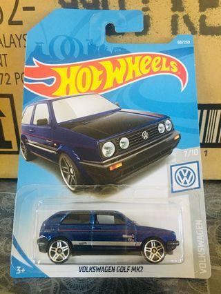 Hotwheels Volkswagen Golf MK2