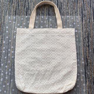 泰國lace手挽袋 -白色-圓