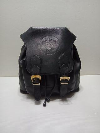 Authentic Versace Leather Backpack