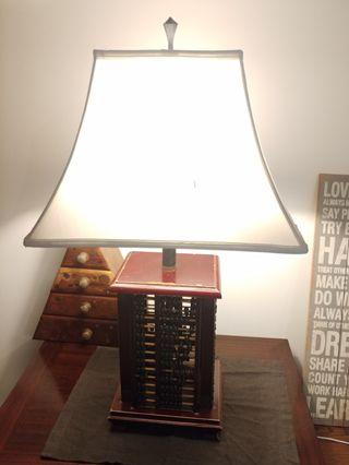 Table Lamp with Abacus